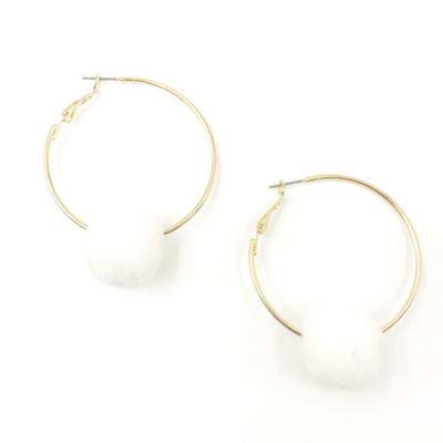 Bijoux Bar 1 3/4 Inch Round Hoop Earrings