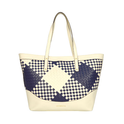 Liz Claiborne Gabby Large Checkered Tote Bag