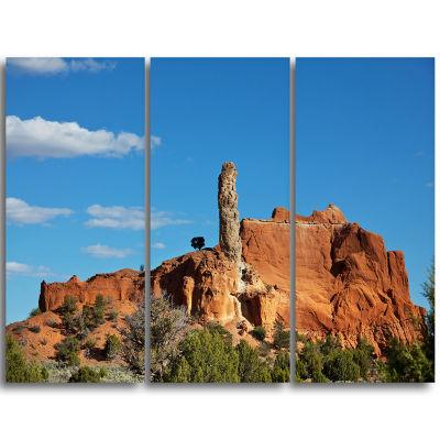 Designart Kodachrome State Park Usa Modern Landscape Wall Art Triptych Canvas