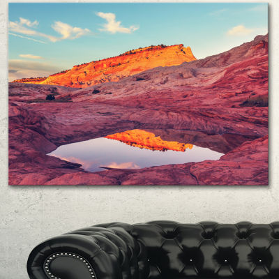 Designart Lake In National Monument Park OversizedLandscape Canvas Art