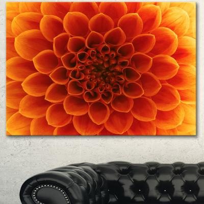 Designart Large Dark Yellow Flower And Petals Floral Canvas Art Print - 3 Panels