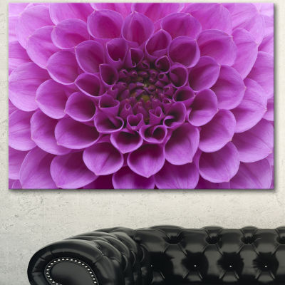 Designart Large Light Purple Flower And Petals Floral Canvas Art Print