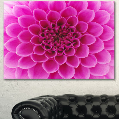 Designart Large Pink Flower And Petals Floral Canvas Art Print - 3 Panels