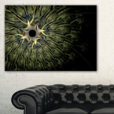 Designart Large Symmetrical Fractal Flower DesignFloral Canvas Art Print