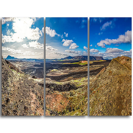 designart lava destroyed stretch of iceland landscape print wall