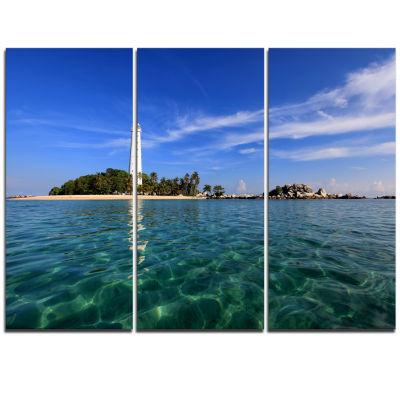 Design Art Lengkuas Island Indonesia Seascape Triptych Canvas Art Print