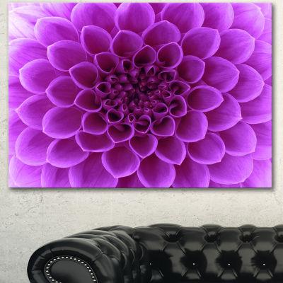 Designart Light Purple Abstract Flower Petals Floral Canvas Art Print