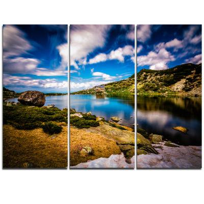 Designart Long View Of Seven Rila Lakes LandscapeTriptych Canvas Art Print