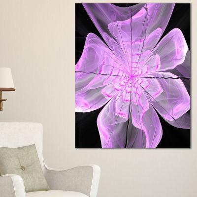 Design Art Lush Purple Digital Art Fractal FlowerFloral Canvas Art Print