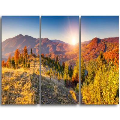 Designart Majestic Fall Mountains Range LandscapePrint Wall Artwork
