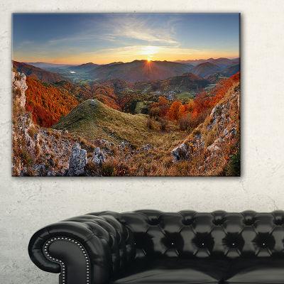 Designart Majestic Sunset In Mountain Landscape Landscape Artwork Canvas