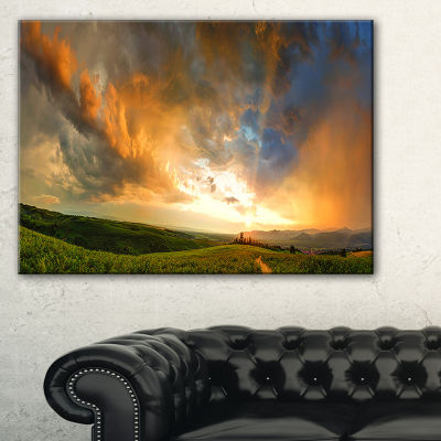 Designart Majestic Sunset With Storm Clouds Landscape Artwork Canvas