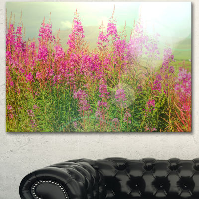 Designart Meadow With Little Purple Flowers FloralArt Canvas Print
