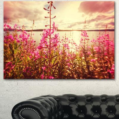 Designart Meadow With Purple Flowers Alaska FloralArt Canvas Print