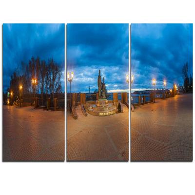 Designart Monument To Armories Panorama LandscapePrint Wall Artwork