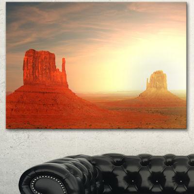Designart Monument Valley Utah Usa Landscape Canvas Art Print - 3 Panels