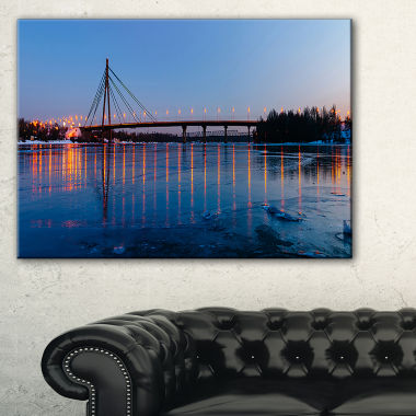 Designart Moscow Bridge In Kiev Panorama CityscapeCanvas Art Print