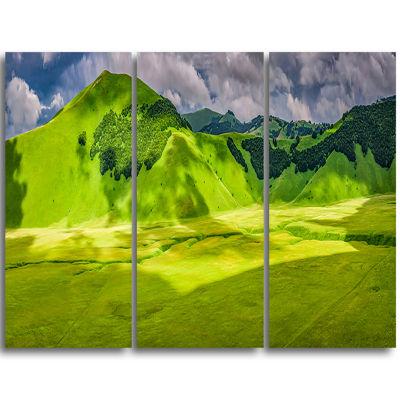 Designart Mountains In Castelluccio Panorama Landscape Print Wall Artwork