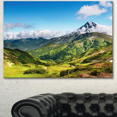 Designart Mountains With Extinct Volcano LandscapeCanvas Wall Art