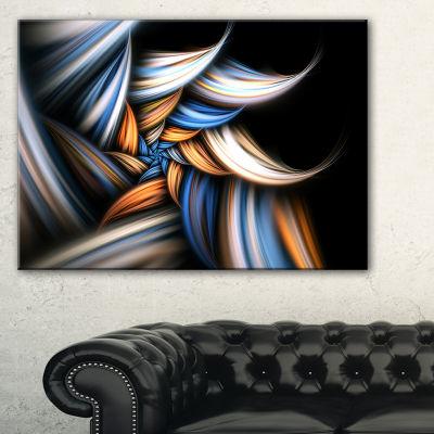 Designart Multi Color Fractal Floral Pattern In Black Floral Canvas Art Print