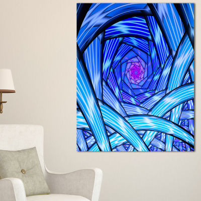 Designart Mysterious Psychedelic Fractal PatternAbstract Art On Canvas