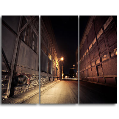 Designart Old Road And Buildings Extra Large WallArt Landscape
