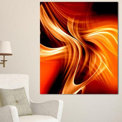 Designart Orange Abstract Warm Fractal Design Abstract Wall Art Canvas