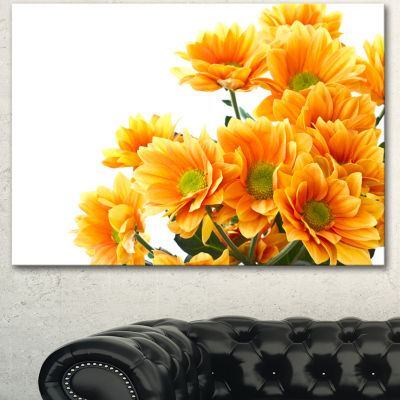 Designart Orange Flowers Chrysanthemum Floral Canvas Art Print
