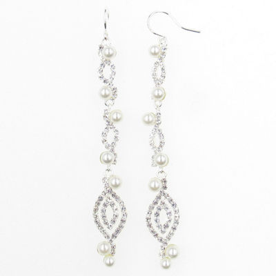 Vieste Rosa Vieste Fashion Pearl Brass Drop Earrings
