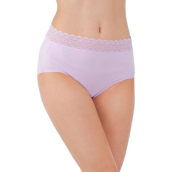 Vanity Fair Flattering Lace Tagless Cotton Brief Panties - 13396