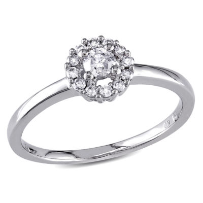 Womens 1/4 CT. T.W. Genuine White Diamond 10K Gold Solitaire Ring