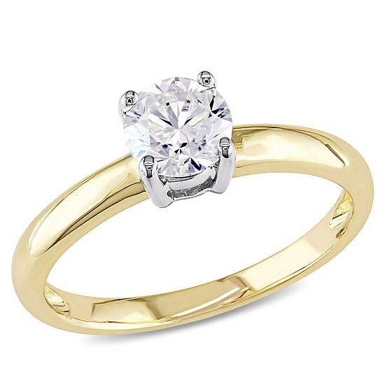 Womens 3 4 Ct Tw Genuine White Diamond 14k Gold Solitaire Engagement Ring