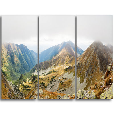 Designart Ostry Rohac And Placlive Peaks LandscapeTriptych Canvas Art Print