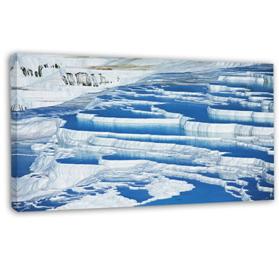 Designart Pamukkale Pools In Turkey Oversized Landscape Canvas Art