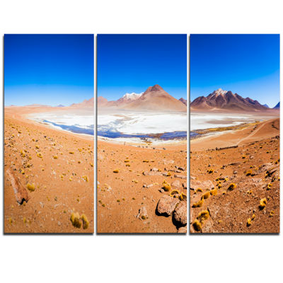 Designart Panoramic View Of Laguna Honda Modern Seascape Triptych Canvas Artwork