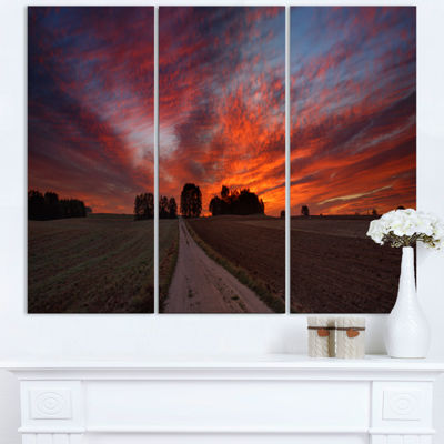 Designart Pathway To Fairy Autumn Sky Landscape Print Wall Artwork
