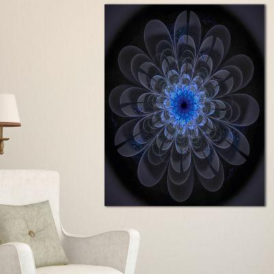 Designart Perfect Digital Flower Art In Dark Purple Floral Canvas Art Print