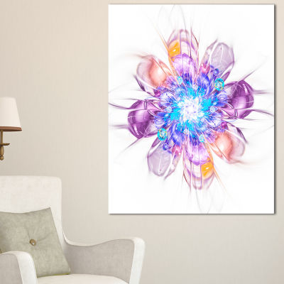 Designart Perfect Fractal Flower In Multi ColorsFloral Canvas Art Print