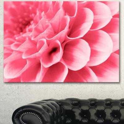 Designart Pink Abstract Flower Petals Floral Canvas Art Print - 3 Panels