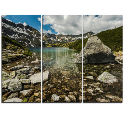 Designart Pond In Five Lakes Valley Landscape Triptych Canvas Art Print
