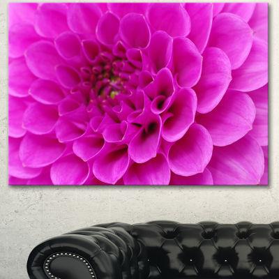 Designart Purple Flower With Close Up Petals Floral Canvas Art Print