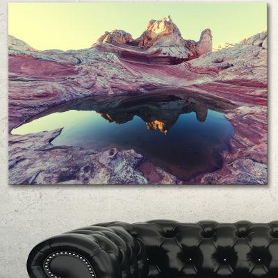 Designart Purple Tinged Vermilion Cliffs LandscapeCanvas Art Print
