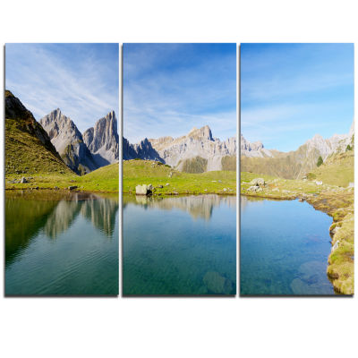 Designart Pyrenee In France Panorama Landscape Artwork Triptych Canvas