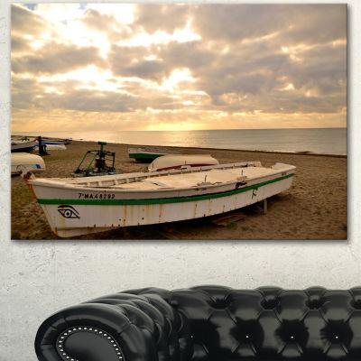 Designart Rincon De La Victoria Beach Seascape Canvas Art Print - 3 Panels