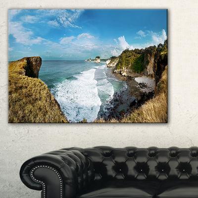Designart Rocky Beach On The Sumba Island Large Seascape Art Canvas Print