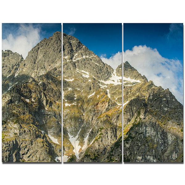 Designart Rocky Summit In Tatra Mountains Contemporary Landscape Triptych Canvas Art