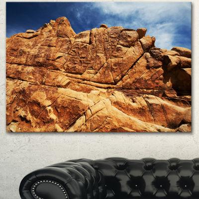 Designart Rocky Terrain Under Blue Sky African Landscape Canvas Art Print - 3 Panels