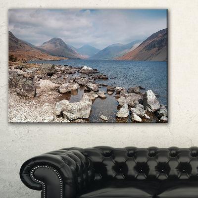 Designart Rocky Wast Water In Lake District Landscape Artwork Canvas