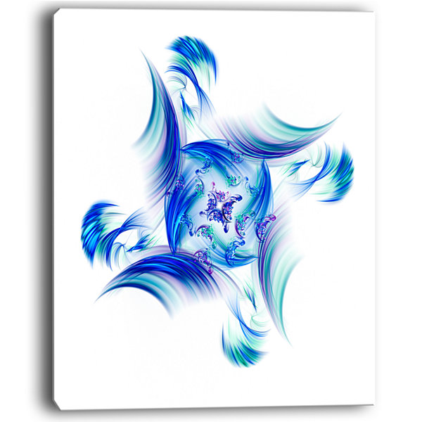 Designart Rotation Of Small Universe Blue FlowerFloral Canvas Art Print