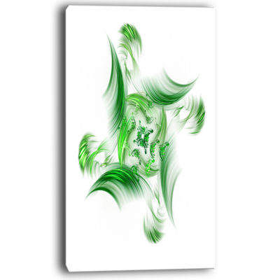 Designart Rotation Of Small Universe Green FlowerFloral Canvas Art Print